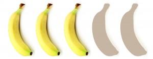 3 Bananen