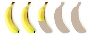 2 einhalb Bananen