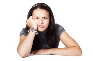 frustrierte Frau